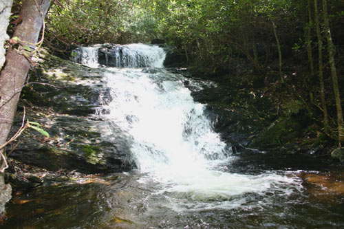 Franklin waterfalls include Big Laurel Falls