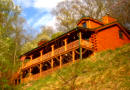 Maggie Valley NC Log Cabin Rental with fireplace and ping pong