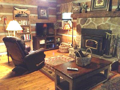Authentic log cabin rental in Cashiers