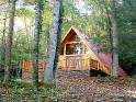 A-frame cabin secluded in the woods near Dillsboro