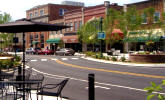 Downtown Hendersonville North Carolina is picturesque and full of speciality shops and restaurants