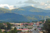 Waynesville NC is nestled in the mountains and know for restaurants, shops and galleries