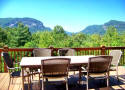 Family sized Lake Lure cabin rental with mountain view