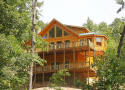 newer log home rental with all the extras