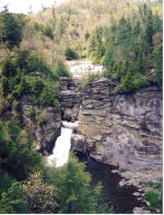 Linville Falls is located on the Blue Ridge Parkway