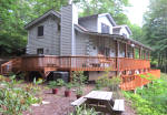 Maggie Valley NC cabin rental with hot tub and mountain view