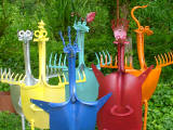 Susan_Hayden_mixed media, upcycled garden sculptures